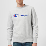 Champion Men's Crew Neck Script Sweatshirt - Grey