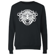 American Gods Buffalo Head Women's Sweatshirt - Black