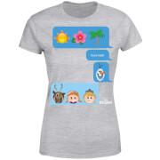 Frozen I Love Heat Emoji Dames T-shirt - Grijs