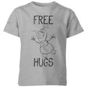 Frozen Olaf Free Hugs Kids' T-Shirt - Grey