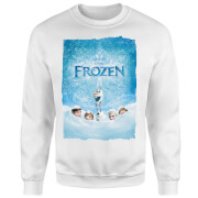 Frozen Snow Poster Sweatshirt - White