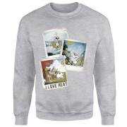 Sweat Homme La Reine des Neiges - Polaroid Olaf - Gris