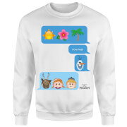 Frozen I Love Heat Emoji Sweatshirt - White