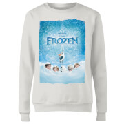 Frozen Snow Poster Women's Sweatshirt - White