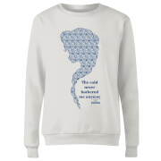 Frozen The Cold Never Bothered Me Anyway Women's Sweatshirt - White