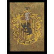 Affiche Encadrée Blason Poufsouffle Harry Potter - 30 x 40 cm