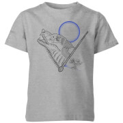 Harry Potter Werewolf Line Art Kids' T-Shirt - Grey