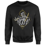 Harry Potter Centaur Line Art Sweatshirt - Black