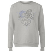 Harry Potter Thestral Line Art Women's Sweatshirt - Grey