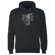 Sweat à Capuche Homme Dessin au Trait Sombral - Harry Potter - Noir