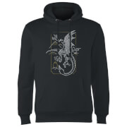 Sweat à Capuche Homme Dessin au Trait Dragon - Harry Potter - Noir