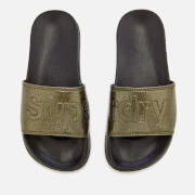 Superdry Women's Superdry Pool Slide Sandals - Black Pewter Glitter