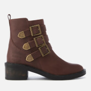Superdry Women's Cheryl Military Boots - Oxblood