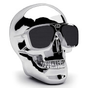 Jarre AeroSkull XS + Bluetooth Portable Speaker - Chrome Silver