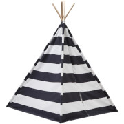 Kids Concept Tipi Tent - Black/White
