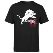 East Mississippi Community College Lion and Logo Men's T-Shirt - Black