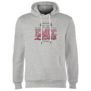 East Mississippi Community College Lions Distressed Hoodie - Grey