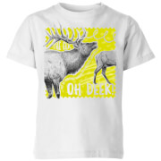 Natural History Museum Oh Deer Kids' T-Shirt - White