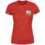 Natural History Museum T-Rex Badge Women's T-Shirt - Red