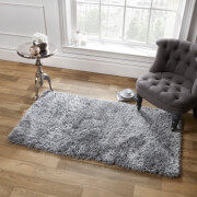 Sienna Soft, Shaggy, Thick Pile Rug 160 x 230cm - Silver