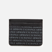 Armani Exchange Men's All Over Print Credit Card Case - Black