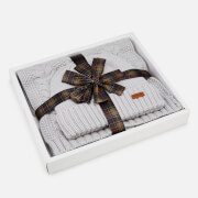 Barbour Women's Cable Hat & Scarf Set - Ice White
