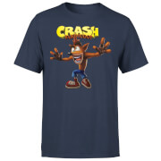 Crash Bandicoot Crazy Men's T-Shirt - Navy