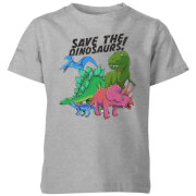 Save The Dinosaurs Kids' T-Shirt - Grey