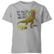 Did You Eat The Last Unicorn? Kids' T-Shirt - Grey