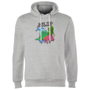 Save The Dinosaurs Hoodie - Grey