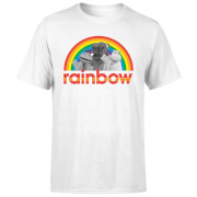 Rainbow Logo Characters Men's T-Shirt - White