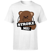 Rainbow Stroke Me Bungle Men's T-Shirt - White