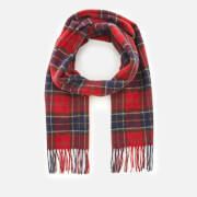 Barbour Men's Tartan Lambswool Scarf - Red