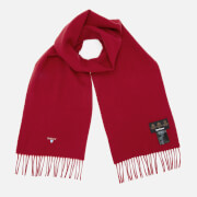 Barbour Men's Plain Lambswool Scarf - Red