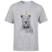 Party Lion Men's T-Shirt - Grey