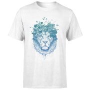 Lion And Butterflies Men's T-Shirt - White
