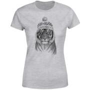 Winter Tiger Women's T-Shirt - Grey