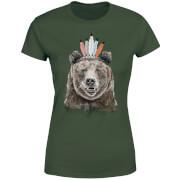 Native Bear Women's T-Shirt - Forest Green