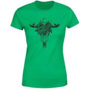 Skulls And Flowers Women's T-Shirt - Kelly Green