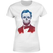 Suited And Booted Skull Women's T-Shirt - White