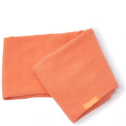 Aquis Lisse Luxe Long Hair Towel - Tangerine Sunrise