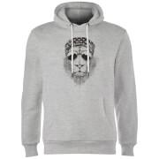 Bandana Lion Hoodie - Grey