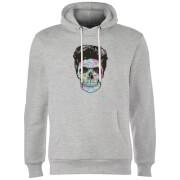 Colourful Skull Hoodie - Grey