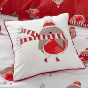Catherine Lansfield Robins Cushion - Red