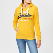 Superdry Women's Vintage Logo Bonded Satin Entry Hoodie - Golden Ochre