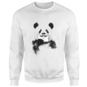 Moustache And Panda Sweatshirt - White