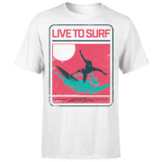 T-Shirt Homme Live To Surf Native Shore - Blanc