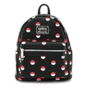 Loungefly Pokémon Pokéball Black Mini Fashion Backpack