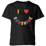 My Little Rascal I Love Sunshine Kids' T-Shirt - Black
