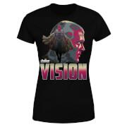 Avengers Vision Damen T-Shirt - Schwarz
